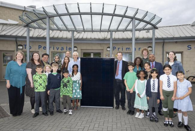 Solar powered: Perivale Primary is the 10th in Ealing to switch