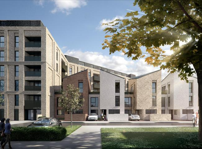 An artist's impression of part of the development (Image: Brent Council)