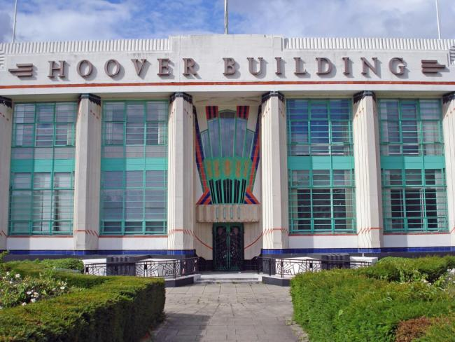 Landmark for millions: the Hoover building at Perivale