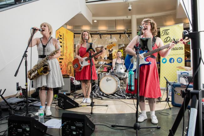 Here come the girls: the Daisy Chains performing in Uxbridge