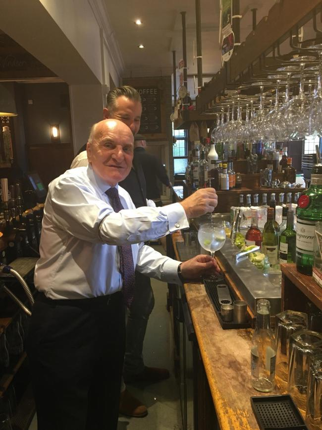 Ice and lemon? Stephen Pound goes to work at the Duke of Kent
