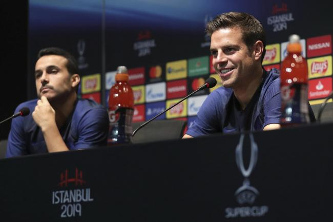 Azpilicueta (right) believes Chelsea have learned from their drubbing at Old Trafford