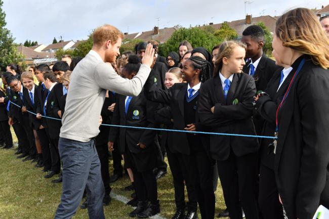 Duke of Sussex visits Luton school
