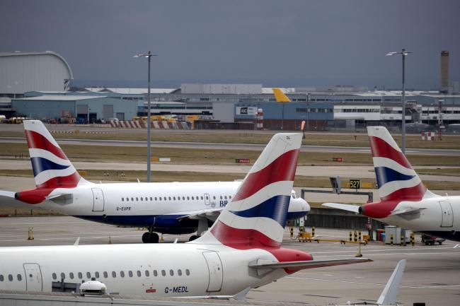 British Airways aircraft, as the airline's pilots are going on strike on September 27