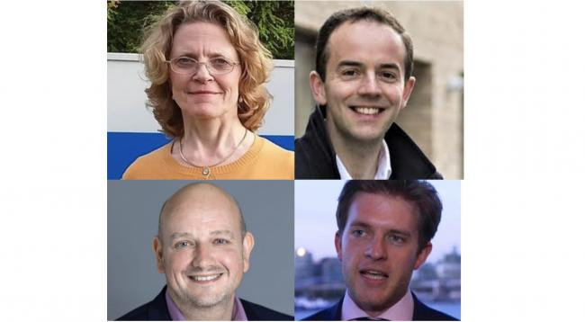 Candidates (l-r): Henrietta Bewley, James Murray,  Jeremy Parker and Anthony Pickles