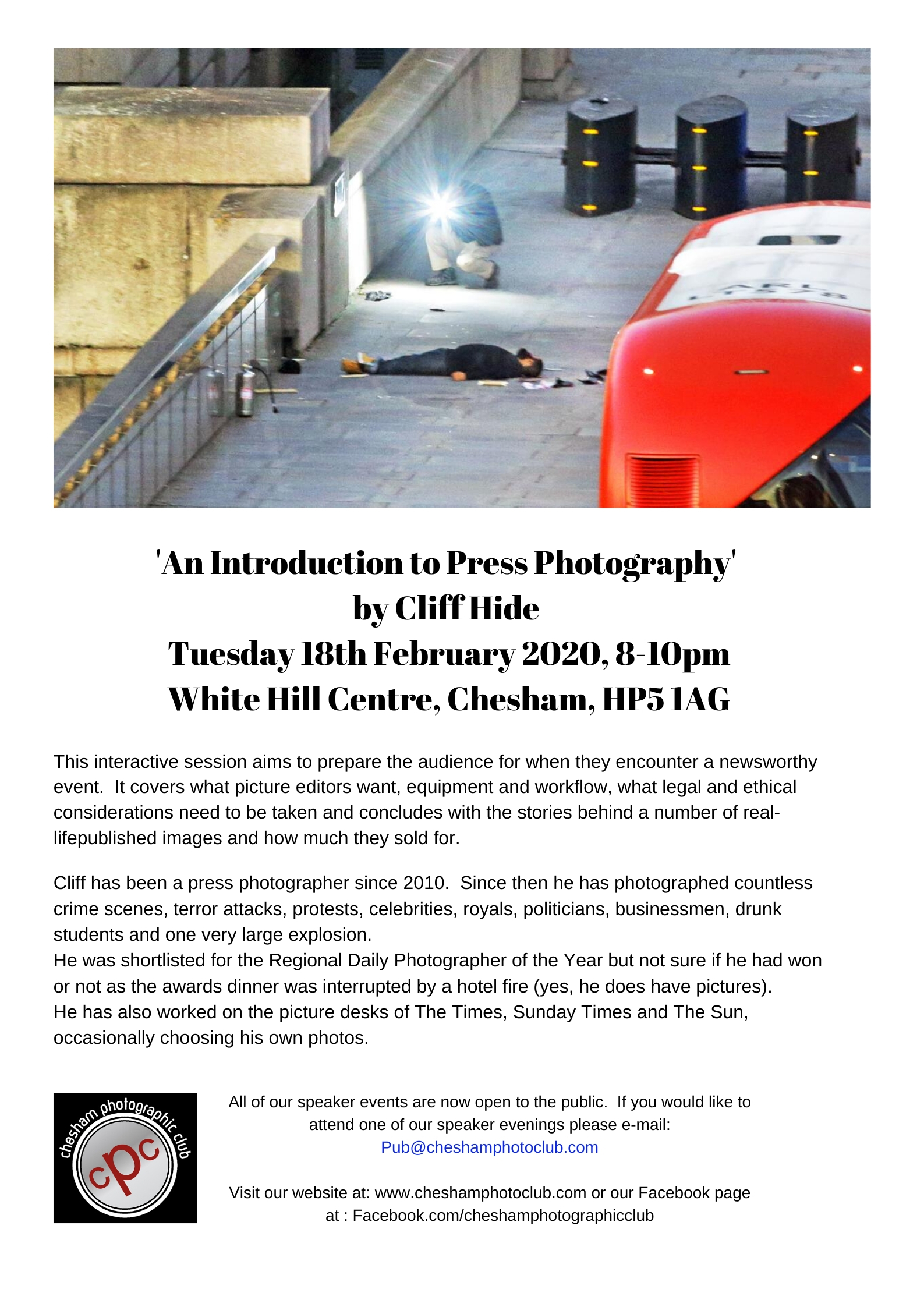 An Introduction to Press Photography by Cliff Hide