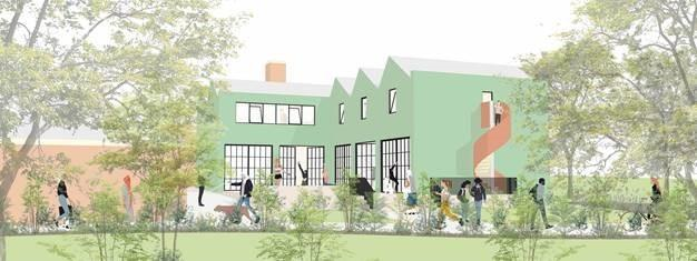 An initial concept for the new building (Photo: Chris Dyson Architects)