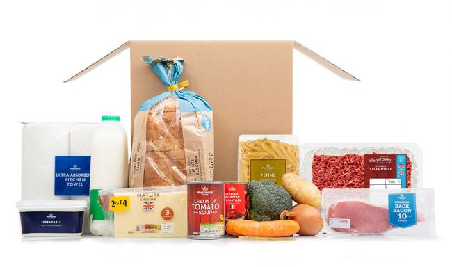 Morrisons launches new weekly food box scheme - An example of a meat-eaters' box . Picture: Morrisons