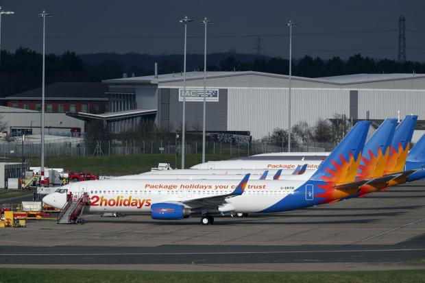 Ealing Times: AIRLINE: Several Jet2 planes have been parked up at Birmingham Airport during the pandemic. Picture: Steve Parsons/PA