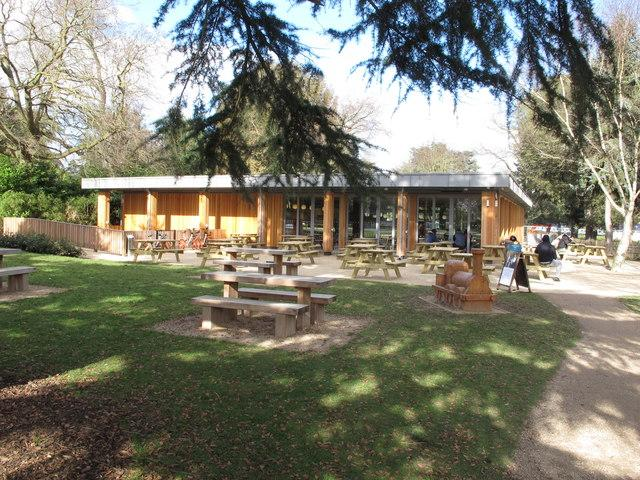 Happier times: the Gunnersbury Park cafe before the fire