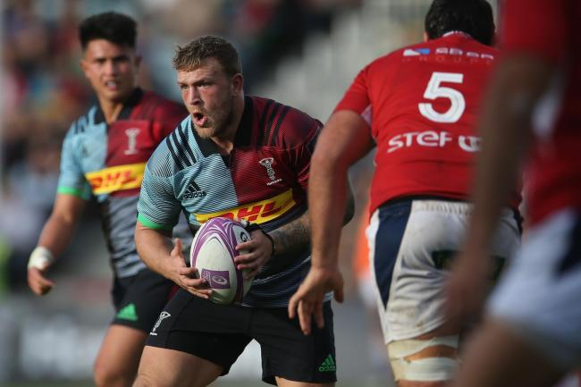 Quins hooker Crumpton was forced to retire after suffering a hamstring injury against Bath in January