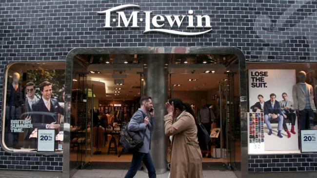 TM Lewin will disappear from the high street after 122 years. Photo: PA
