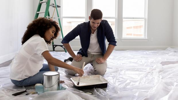 Ealing Times: Prepping your workspace with a drop cloth or plastic covering is a key part of the process. Credit: Getty Images / SDI Productions