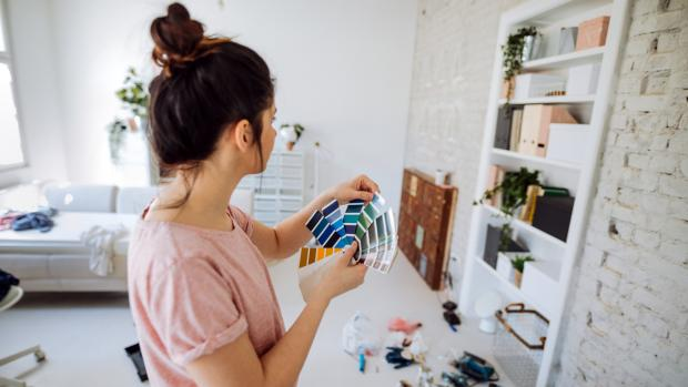Ealing Times: Consider what colour you'd most enjoy in the space, and feel free to consult paint fan decks, samples, and even apps to help you decide. Credit: Getty Images / AleksandarNakic