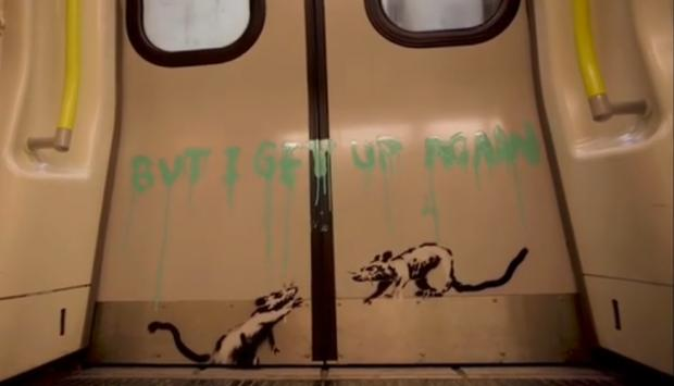 Ealing Times: 'I get locked down, but I get up again': Banksy's positive message to London (Photo: Banksy).