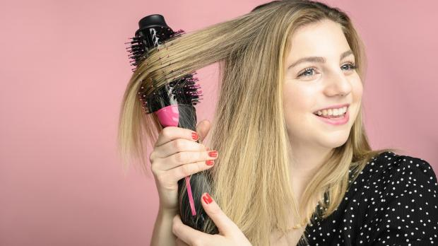 Ealing Times: This Revlon hair dryer brush is better than any hair dryer I've ever used. Credit: Reviewed / Betsey Goldwasser