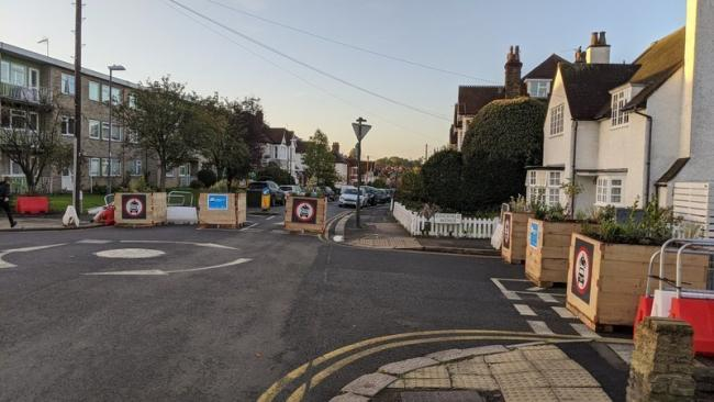 Some of the measures implemented under the low-traffic neighbourhood schemes in Harrow (Photo: Atish Anand)