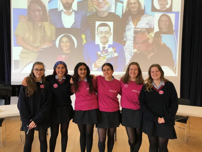 Bright sparks: fund-raisers at Notting Hill and Ealing High School