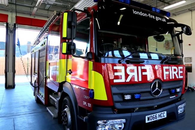 Four engines on call as shed blazes in Northolt