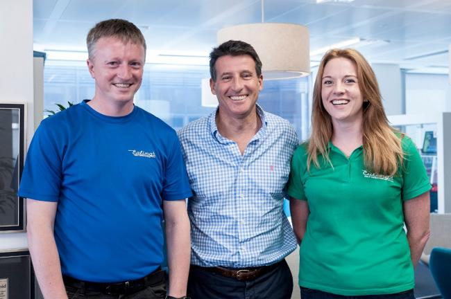 Stamp of approval: Olympic driving force Seb Coe gave his endorsement to Ealing's legacy event