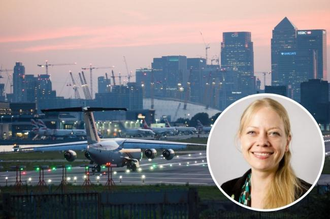 Sian Berry has said she would close London City Airport and reddevelop the site and surrounding area. Credit: James Petts/GLA