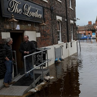 Flood-hit town at risk once again