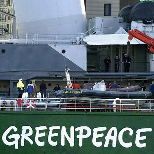 Greenpeace asked its supporters to write statements on chimneys