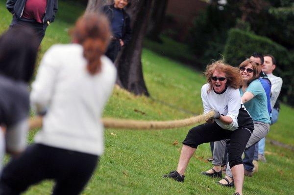 The Gurkha tug-of-war last year
