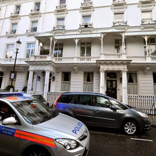 Eva Rausing's body was found at her home in Cadogan Place, Chelsea