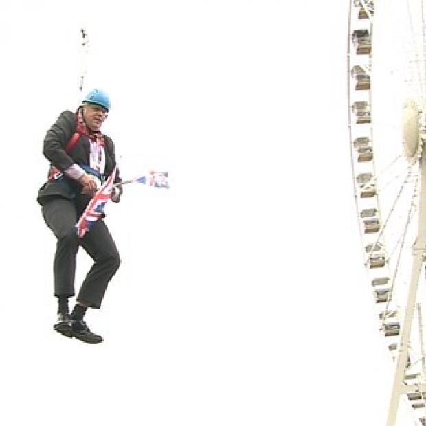Ealing Times: London Mayor Boris Johnson doubted people would elect someone who got stuck on a zip wire as prime minister