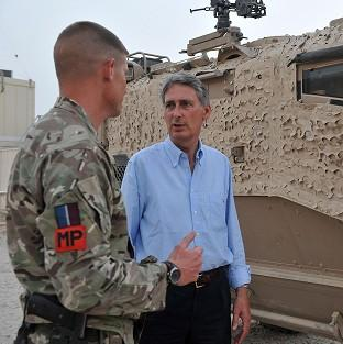 Philip Hammond receives an update on operations on the ground in Afghanistan