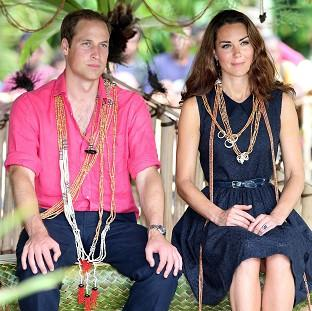 The Duke and Duchess of Cambridge continue to tour the South Pacific while their lawyers are in court over the topless photos