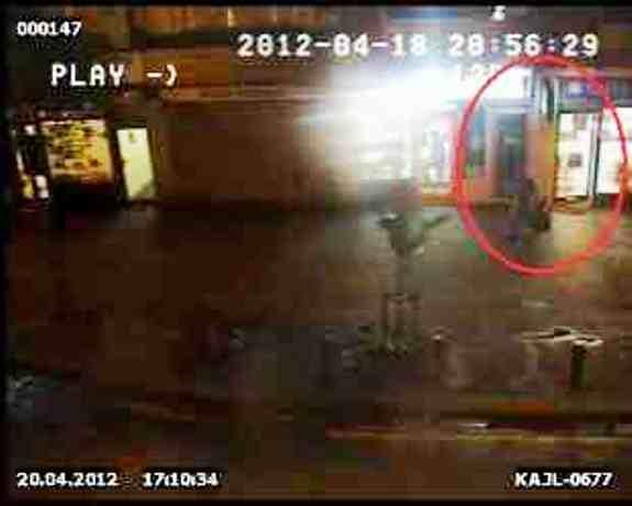 CCTV footage shows rubbish being put out