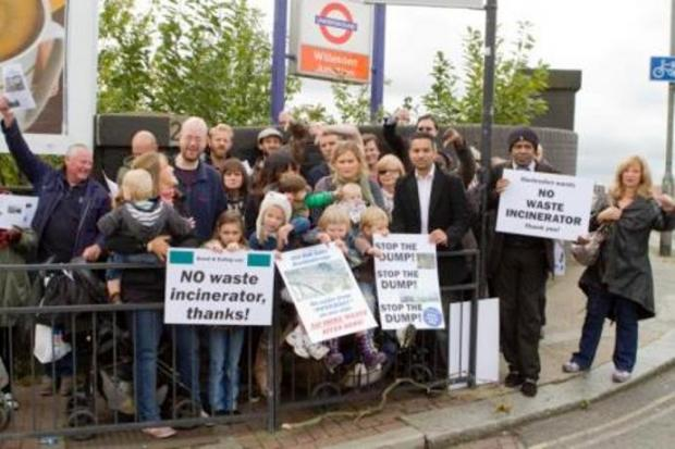 Face-off: Neighbours have made their feelings known about the site off Oal Oak Lane