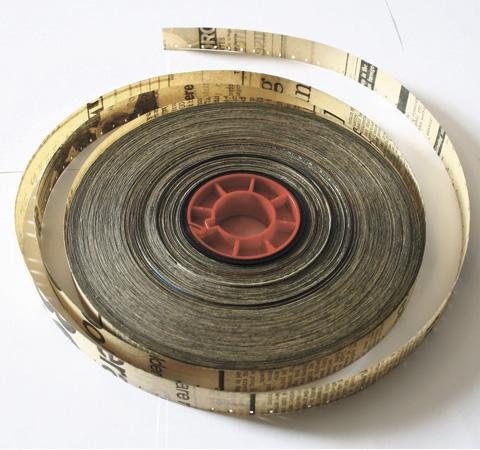 Reel of 16mm by the exhibition's curator, Guy Sherwin
