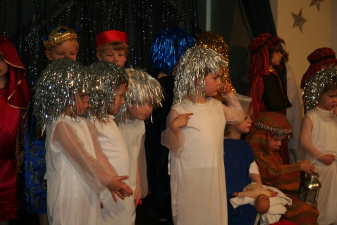 And so this is Christmas: a nativity scene at St Benedict's, Ealing