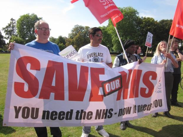 Unwavering: protests have continued since this rally on Ealing Common in September