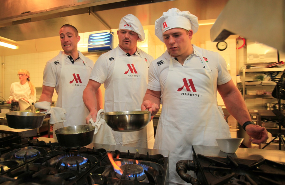 Cooking up a treat: Mike Brown, David Wilson and Tom Youngs