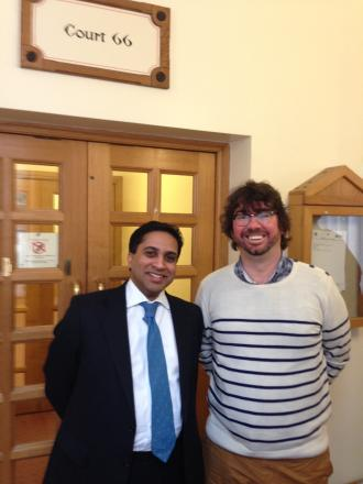 Legal challenge: Cllr Dennehy and his solicitor Sunil Abeyewickreme