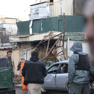 Ealing Times: Afghan security forces investigate the suicide attack in Kabul, Afghanistan (AP)