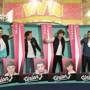 Chart act Union J launch their dolls.