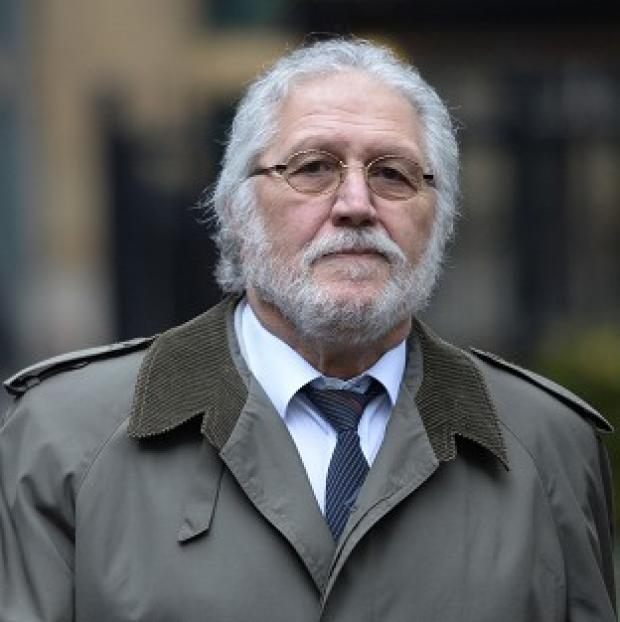 Ealing Times: Former DJ Dave Lee Travis arrives at Southwark Crown Court in London, where he is accused of a series of indecent assaults and one sexual assault