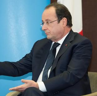 Ealing Times: French president Francois Hollande during a meeting with Prime Minister David Cameron during a one-day summit at RAF Brize Norton