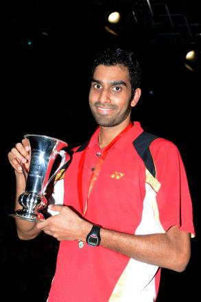 Familiar figure: badminton ace Rajiv Ouseph
