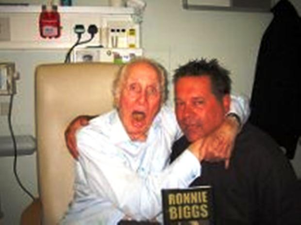 Author and subject: Mike Gray was a regular visitor in Biggs' declining years