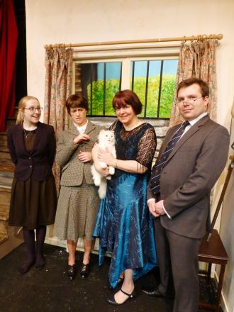 Leading lights: the cast (and friend) of Lettice and Lovage