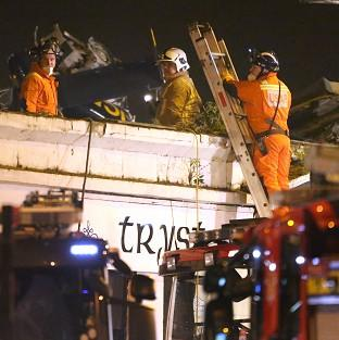 Ten people died after a helicopter crash in Glasgow last November