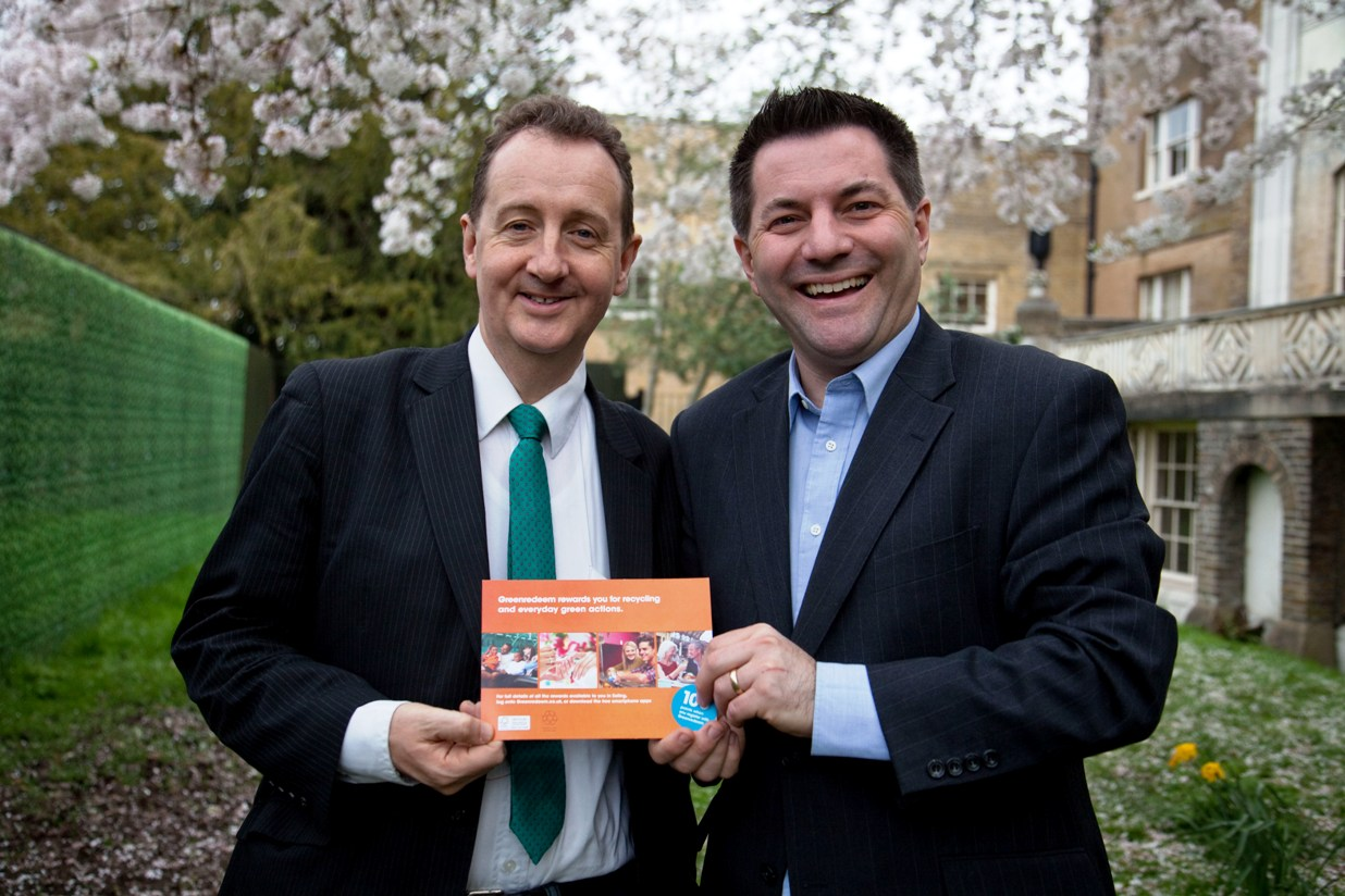 Green team: council leader Julian Bell, left, with, Rob Crumbie, of Green