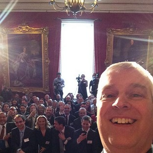 The Duke of York posted a selfie on his Twitter feed