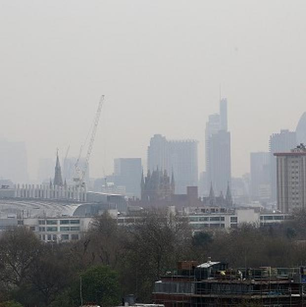 Ealing Times: The London skyline, as London Ambulance Service reported a rise in people calling 999 for help with breathing difficulties and asthma